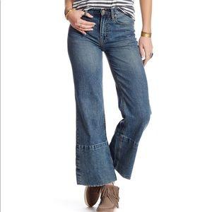 NWTs FREE PEOPLE • Hopkins High Rise Wide Leg Jean